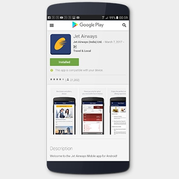 Jet Airways Mobile App Install