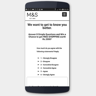 Marks & Spencer Customer Survey