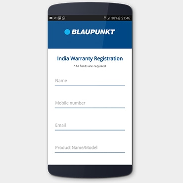 Blaupunkt Warranty Activation App