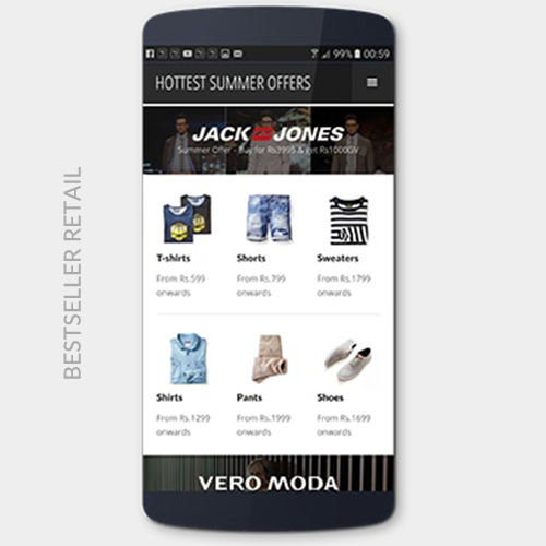 Retail deep linking campaign